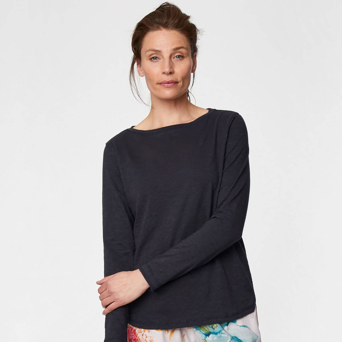 Thought Fairtrade and Organic Cotton Navy Long Sleeve Top Size 10