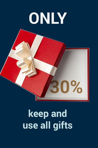 Only 30% keep and use all gifts.