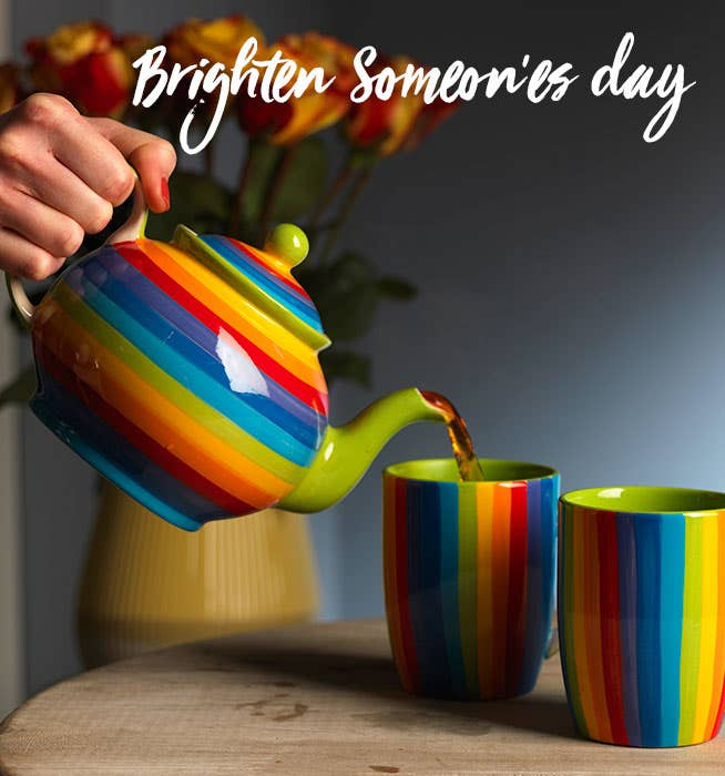 Brighten someone's day - Rainbow Teapot