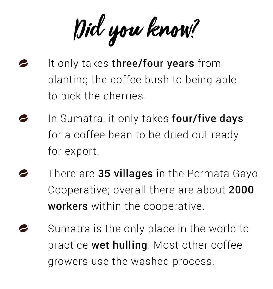 Did you know? Facts about Sumatra coffee