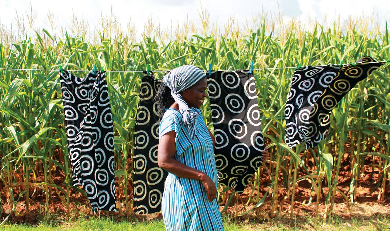 A producer in Swaziland who has benefited from Fairtrade