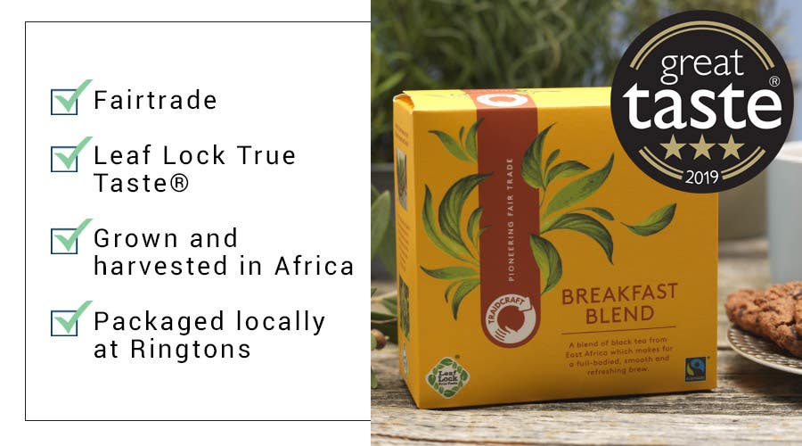 Great Taste Award winning tea from Traidcraft