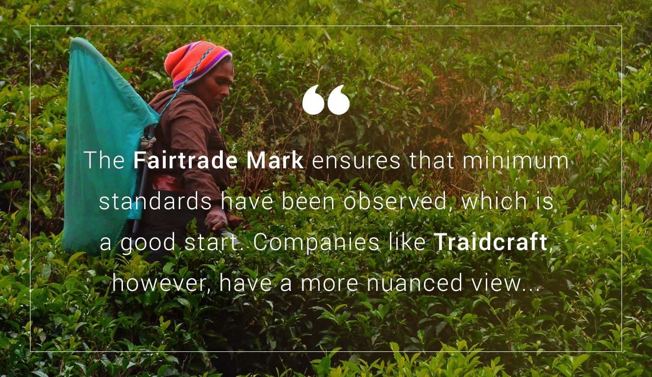 Quote about Fairtrade Mark and what it means in relation to fair trade