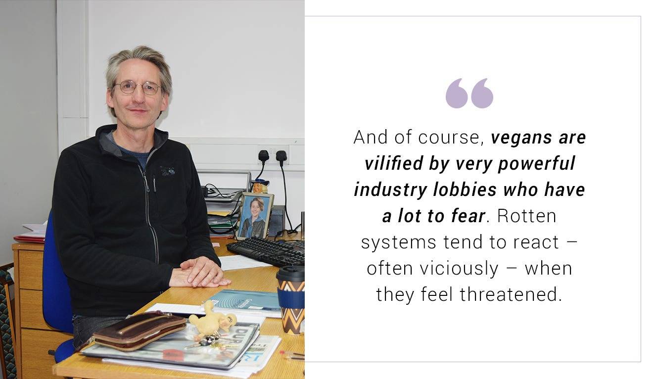 Quote from Robin Roth, Traidcraft's CEO, about veganism