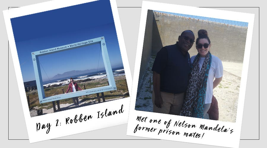 Rio at Robben Island in South Africa