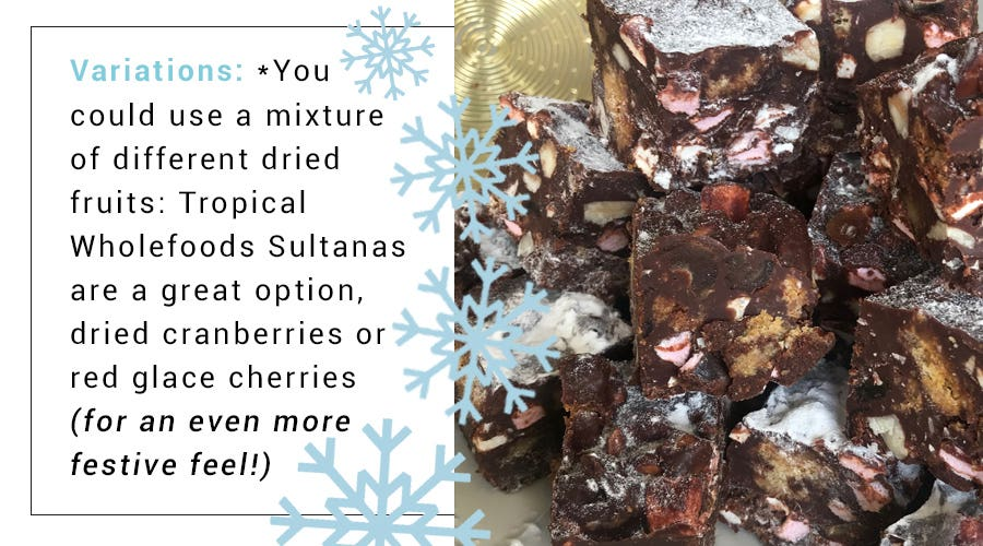 Festive variations of the rocky road recipe