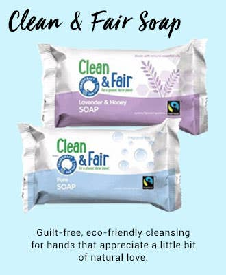 Traidcraft Clean and Fair Soap with FairPalm, sustainable palm oil