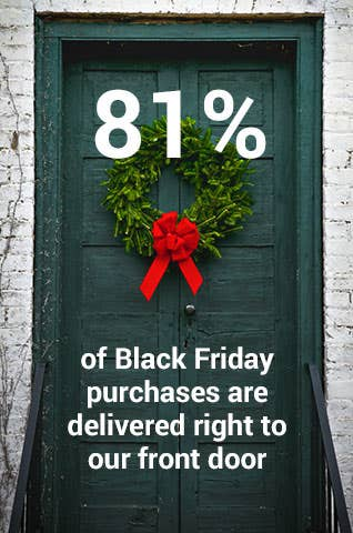 81% of Black Friday purchases are delivered right to our front door.
