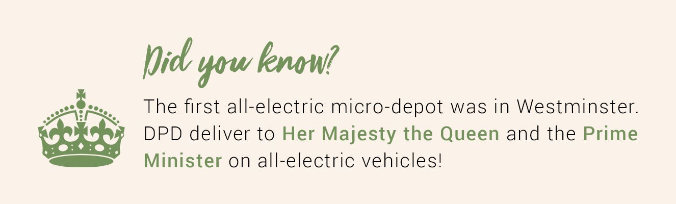Did you know? Fact about where DPD's electric fleet deliver