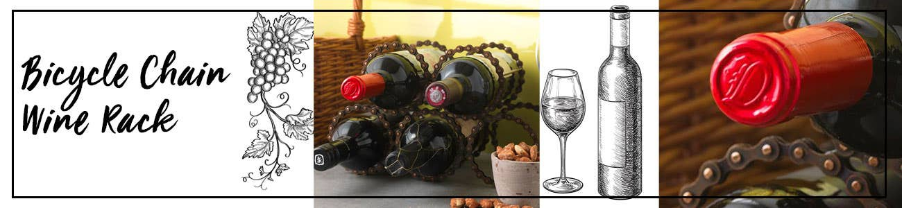 Recycled Chain Wine Rack